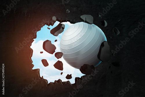 3d closeup rendering of whi...