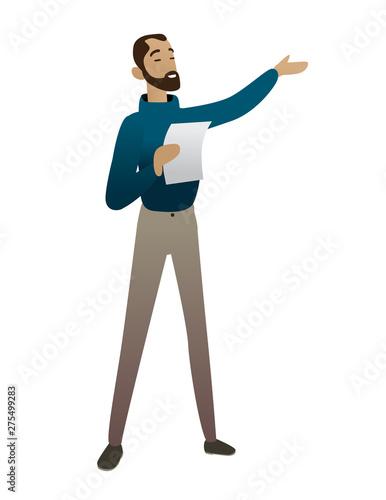 Fotografie, Obraz poet reading man talking