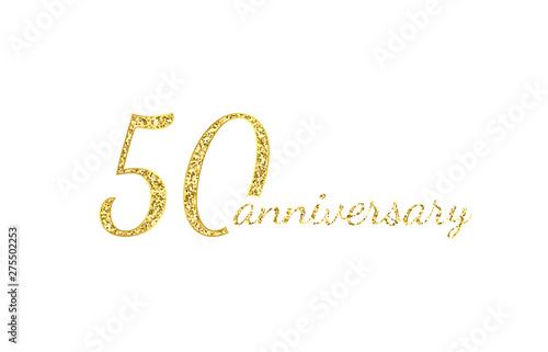 Valokuva  50 anniversary logo concept
