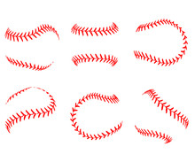 Lace From A Baseball On A White Background. Vector Illustration