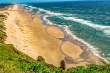 Beach Coastline Waves Pacific Ocean Florence Oregon