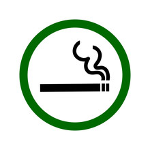 Smoking Permitted Sign. Vector...