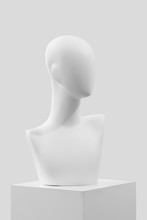 Mannequin On A White Catwalk. ...