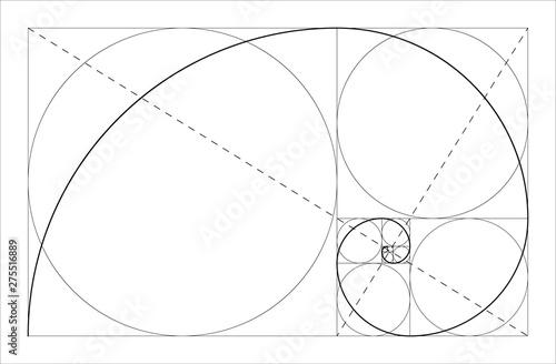 Golden ratio geometric concept Fotobehang