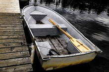 Old Row Boat Are You Read To Go Fishing