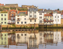 Reflections In Whitby Harbour.