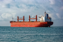 Bulk Carrier Vessel Is Awaitin...