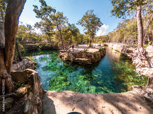 Panoramic view of Turtle house Cenotes Tulum in Yucatan, Mexico