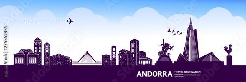 Andorra travel destination grand vector illustration. Fotobehang