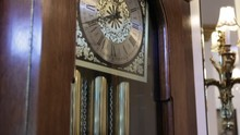 Tilt Up To Reveal Old Grandfather Clock