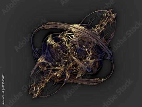 Photo surreal futuristic digital 3d design art abstract background fractal illustratio