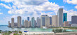 Florida, Scenic Miami harbor on a bright sunny day