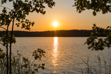 Fototapeta Krajobraz - sunset on the lake