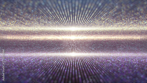 Futuristic abstract glittering moving particles and elegance lights pattern for stage performance show and video jockey background and screensaver