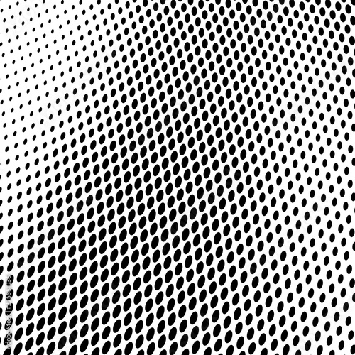 Türaufkleber Metall Abstract halftone texture of black dots on white background.