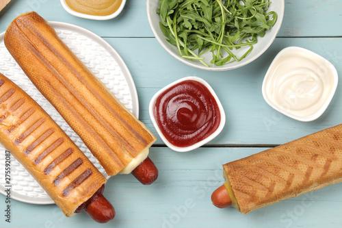 Carta da parati French hot dogs