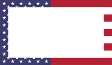Vector Illustration Frame Of The United States Of America Flag With Stars And Stripes - Graphic Frame Element For Your Text Or Design