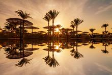 Beautiful Romantic Sunset Over...
