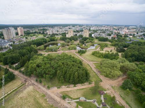 Foto op Aluminium Park of Kalnieciai during reconstruction aerial photography