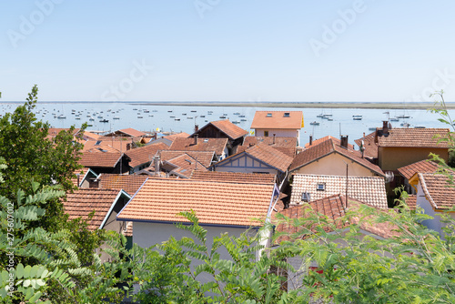 Poster Pierre, Sable basin of Arcachon in french village Le Canon at Cap Ferret