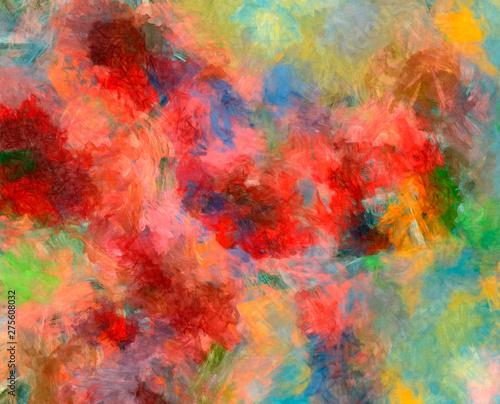 Creative Art Pattern In Warm Fun Colors Design Background
