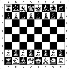 Vector High Quality Graphic Representation Of Chess Pieces On Chessboard