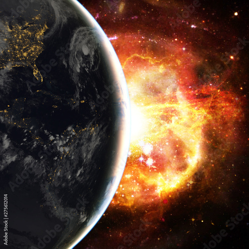 Canvas Prints Universe Earth and space. The elements of this image furnished by NASA.