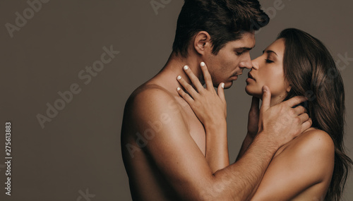 Romantic couple in intimate embrace - 275613883