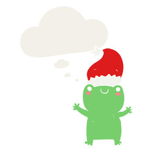 Cute Christmas Frog And Though...