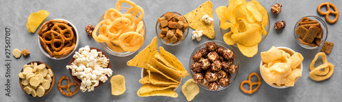 Canvas Print Unhealthy Snacks