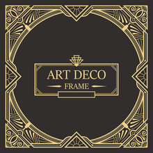 Art Deco Border And Frame Temp...