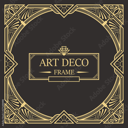 Photographie  Art deco border and frame template