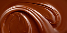 Chocolate Background. Melted Chocolate Surface. Chocolate Surface.