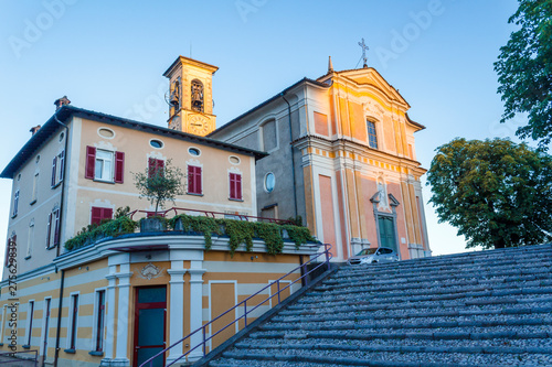 The church and the house next to it Canvas Print