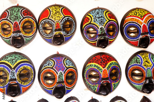 African Art Mask at an Outdoor Market in Accra Ghana - Buy