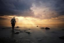 Landscape Sunset On The Sea, M...
