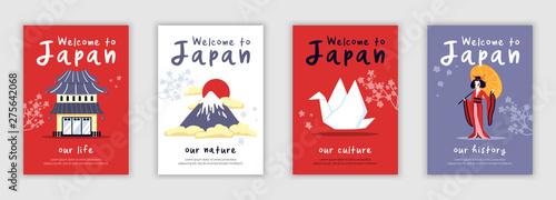 Japan Poster Set Canvas Print