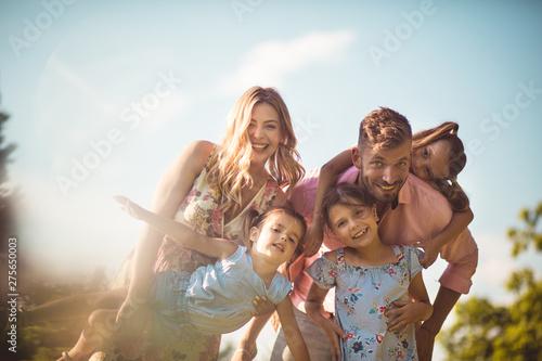 Big family full of love.