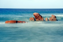 Granite Rocks, Anse Takamaka Beach, Praslin Island, Seychelles, Africa