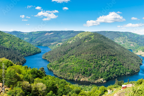 Landscape within the region of Ribeira Sacra in Galicia (Spain)