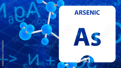 Photo Arsenic As, chemical element sign