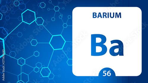 Barium 56 element Canvas Print