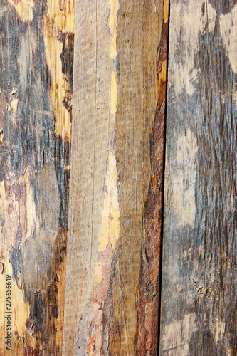Canvas Prints Textures yellow brown wooden board texture with cracks, stains and scratches
