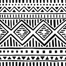 Seamless Ethnic Pattern. Handm...