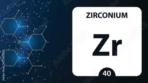 Zirconium 40 element Fototapet