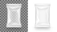 White Blank Transparent Food Snack Sachet Bag Package
