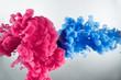 Leinwandbild Motiv cloud of color splash in water