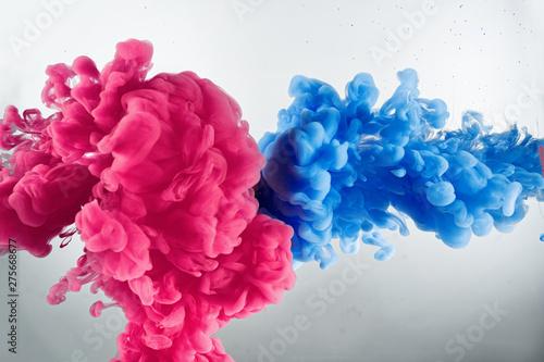 Stampa su Tela  cloud of color splash in water