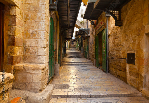 Photo sur Aluminium Ruelle etroite Old town, Jerusalem