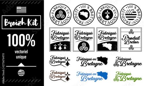 Fabriqué en Bretagne - Logo Fototapete
